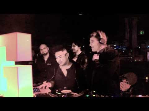 Gregor Robertson DJs at the Biltmore