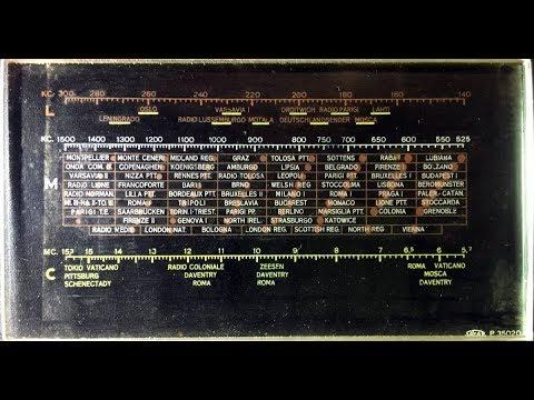 radio d'epoca pulizia delle scala parlante in vetro