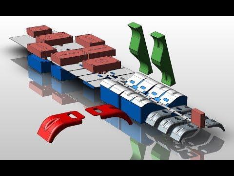 PROGRESSIVE DIE DESIGN 2:  NX11  / KeyCreator (Tool Engaged)