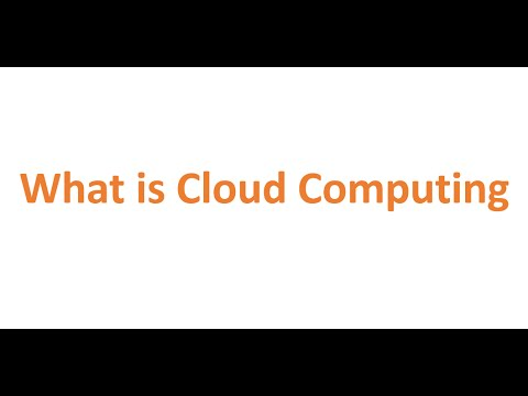 What is Cloud Computing (Computer Science)