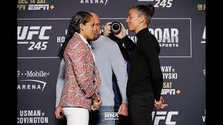 UFC 245: Amanda Nunes vs. Germaine de Randamie Media Day Staredown - MMA Fighting