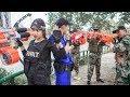 Game Nerf War : Winter Warriors Use Skill MEGA Nerf Guns | Fight Attack Bandits Crime