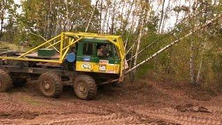 Extrem offroad Truck Tatra 8x8  - demolition of trees