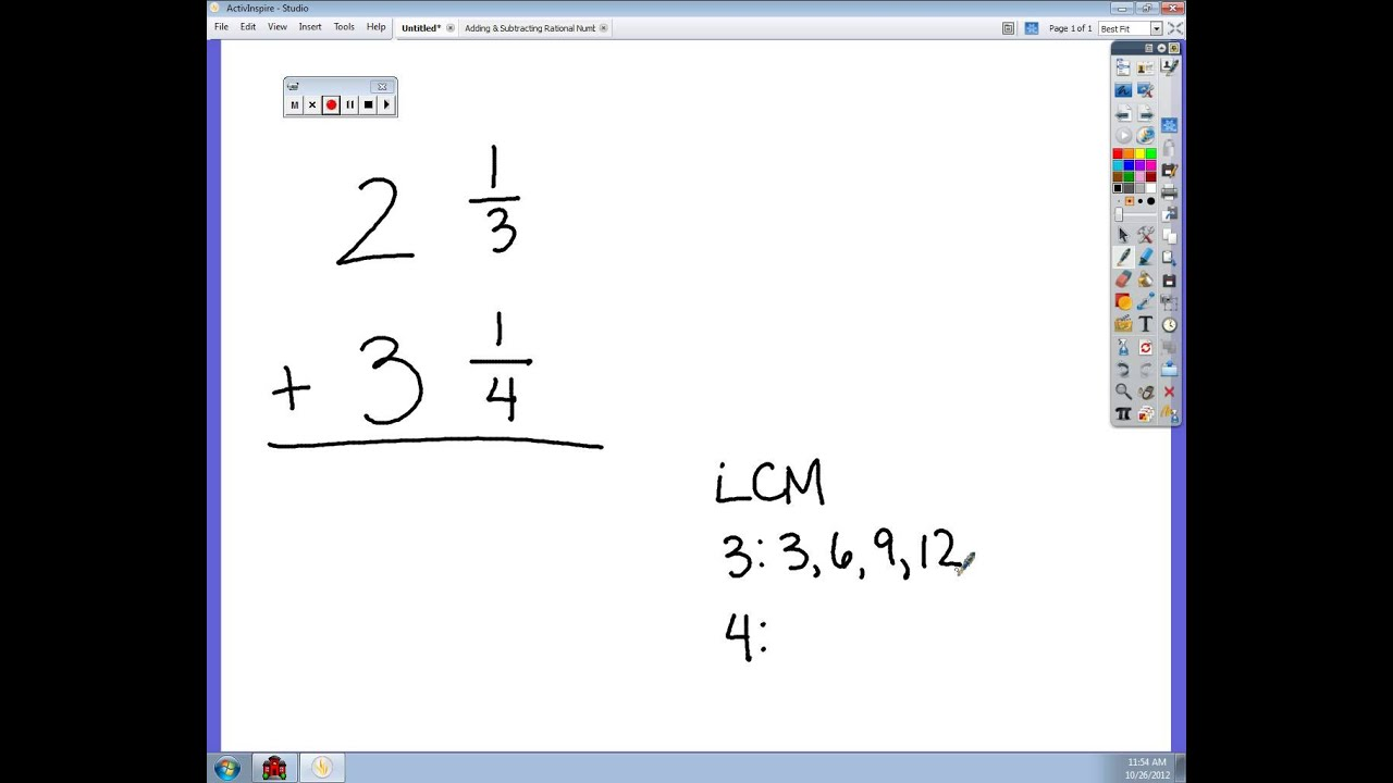 worksheet Adding Mixed Numbers adding mixed numbers with unlike denominators avi youtube avi