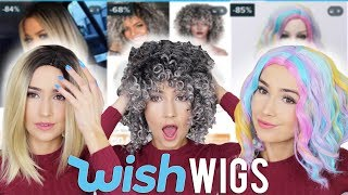 TRYING ON WIGS FROM WISH.COM!!