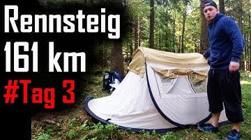 Rennsteig - 161 km zu Fuß (Tag 3): Funpark Inselsberg - Heuberghaus - Oberhof (33 km)