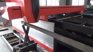 Steel Tube Pipe Cutting by Fiber Laser Cutting Machine 1000W from bodor laser in China