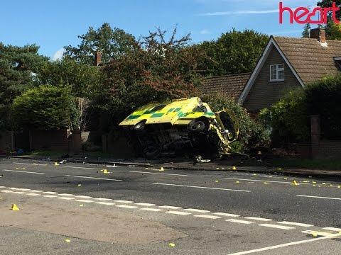 UK ambulance collides with car; 4 injured