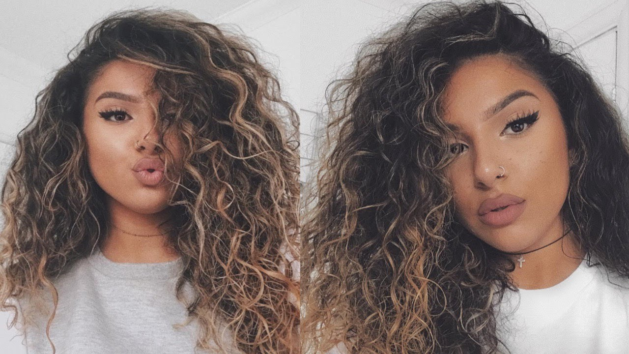 big curly hair tutorial routine