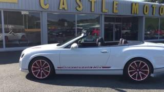 Bentley Continental SuperSports Ice Speed Record Convertible 2012 Videos