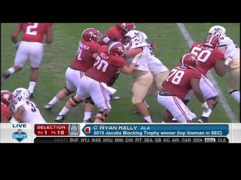 2016 NFL Draft Rd 1 Pk 18 | Indianapolis Colts Select C Ryan Kelly