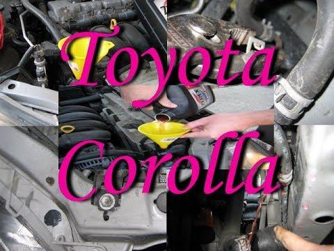Замена охлаждающей жидкости(антифриза) на Toyota Corolla