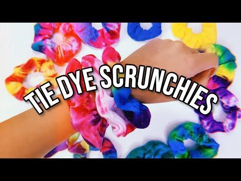 DIY TIE DYE SCRUNCHIES! | 2 Easy Methods!