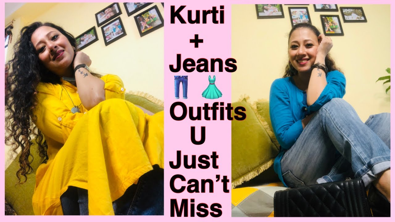 Jeans Aru Kurta Combination | How to look stylish & cool in Kurta and Jeans | Modern & Contemporary