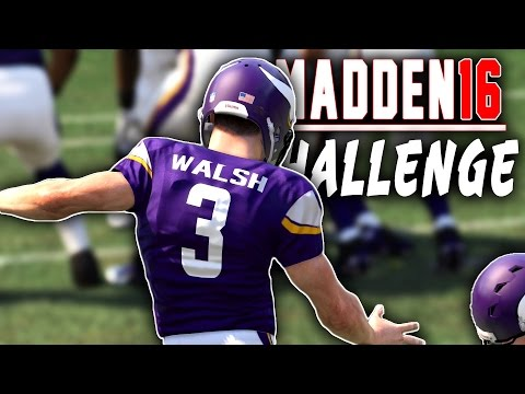 Can Blair Walsh Kick A Field Goal? - (Madden 16 NFL Challenge)