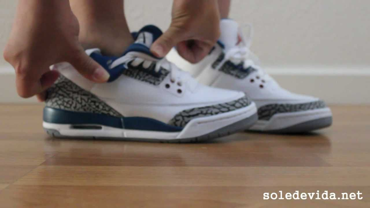 Air Jordan 3 III Retro - True Blue (Grade School) - YouTube c1a18271a