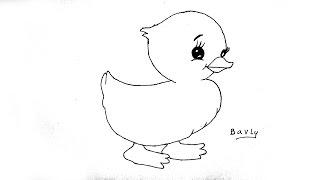 تعليم الرسم للاطفال كيف ترسم بطة خطوة بخطوة رسم بطة للمبتدئين