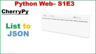 site web création Jinja2, cherrypy, json, kivy - YouTube
