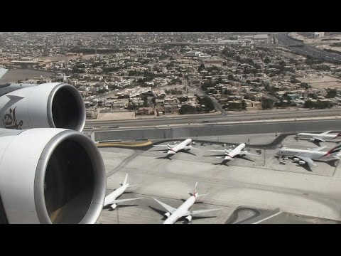 Emirates A380 Takeoff Dubai