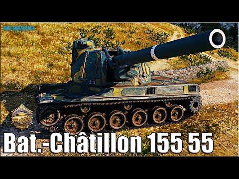 КОРИЧНЕВЫЙ ПОМОЩНИК 🌟 10 ФРАГОВ на арте 🌟  Bat.-Châtillon 155 55 World Of Tanks Gameplay