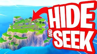 GLITCH VERSTOPPERTJE OP SPAWN ISLAND!! HIDE AND SEEK in FORTNITE PLAYGROUND!