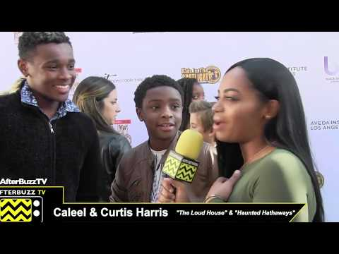 Caleel and Curtis Harris at KITS Movies by Kids Screening and Awards