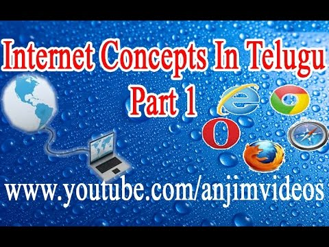 Internet Concepts In Telugu Part 1 || Internet Basics In Tel