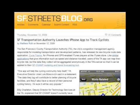 Bicycle and Pedestrian Planning? There's an App for That 11-10-2011