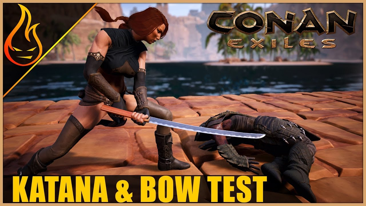 New Weapon And Bow Testing Conan Exiles