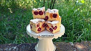 PRAJITURA PUFOASA (cu cirese, visine sau alte fructe) | Gina Bradea