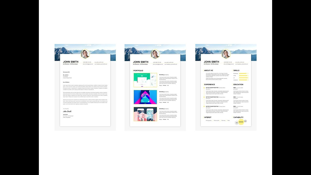 Free Professional Resume Template  Exclusive Resume Set
