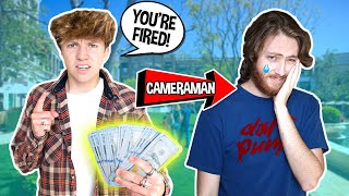 Firing My Camera Man, Then Surprising Him With $10,000 **EMOTIONAL** | Parker Pannell