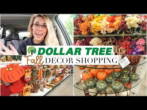 NEW DOLLAR TREE FALL DECOR 2018   FALL HOME DECOR SHOP WITH ME