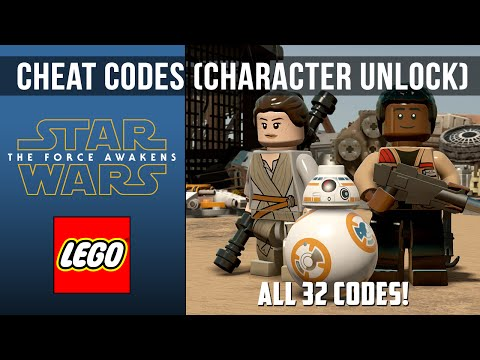LEGO Star Wars The Force Awakens - All 32 Cheat Codes (Unlocks Characters)