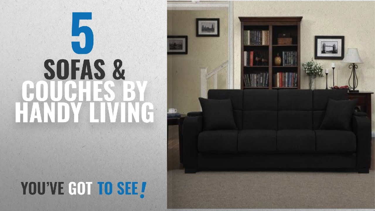 Attractive Top 10 Sofas U0026 Couches By Handy Living [ Winter 2018 ]: Tyler Microfiber  Storage Arm Convert A Couch