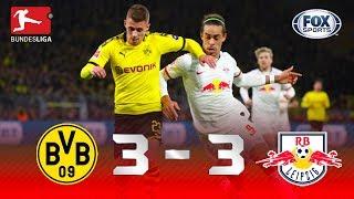 Borussia Dortmund - RB Leipzig [3-3] | GOLES | Jornada 16 | Bundesliga