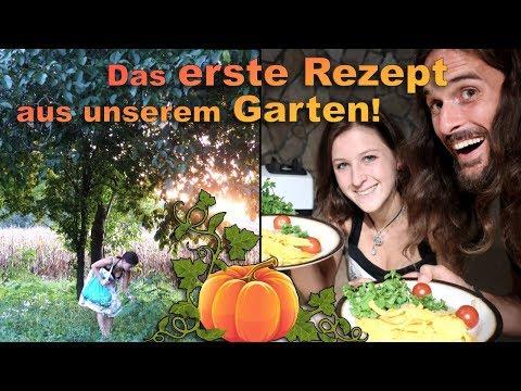 Vegan & Rohkost: Kürbis mit Walnuss Tomatensoße und Wildkräutern - unser 1. Selbstversorger Rezept!