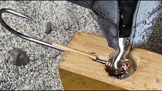 Easy Make Jig Hook - Anzuelo Facil De Hacer - من السهل جعل هوك تهزهز