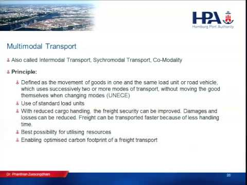 Pilot 1 - Day 1 - Session 2 - Transport Modes; Multimodal Transport - Part 2 PPT