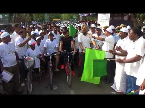 Solar Power Energy Marathon Rally by Veera IAS and udhaya kumar minister