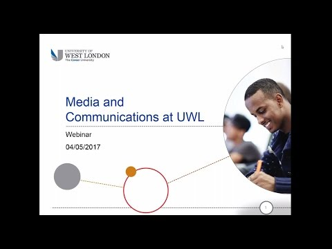 Webinar: Studying Media and Communications at the University of West London