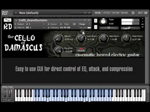 Cello of Damascus - multisampled bowed electric guitar for Kontakt