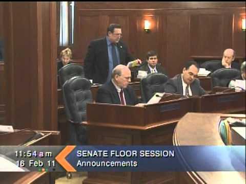 Senator Ellis serves as Senate President Pro-Tempore.