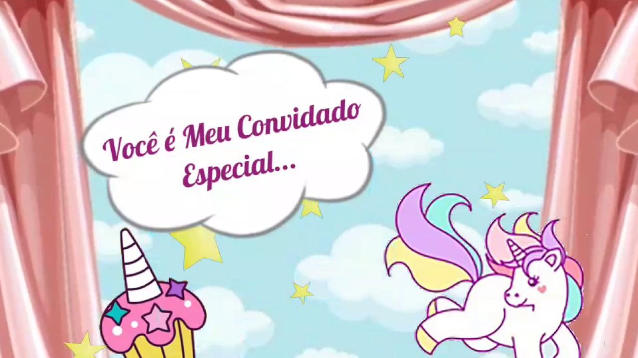 Minha Festa De UnicÓrnio: Meu Convite De Aniversário Festa Unicórnio!!!