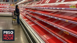 Despite empty store shelves, grocery association says supply chain 'very strong'