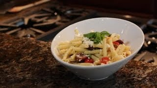 Mediterranean Pasta Salad With Penne, Feta & Tomatoes : Divine Dishes