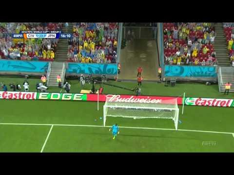 Keisuke Honda Goal Cote D'Ivoire - Japan 2-1 HD