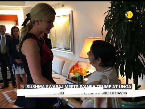 Sushma Swaraj meets Ivanka Trump at UNGA