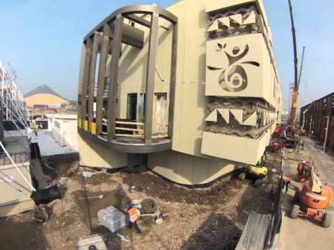 Time Lapse Angola Pavilion Construction
