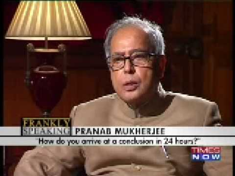 Frankly Speaking with Arnab: Pranab slams Pak for not acting on 26/11 evidence - Part 1